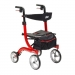 "Nitro Fire Red Aluminum Rollator, 10"" Casters"