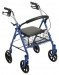 "Durable Blue 4 Wheel Rollator with 7.5"" Casters"